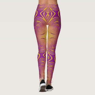 abstract colrful swirl pattern leggings