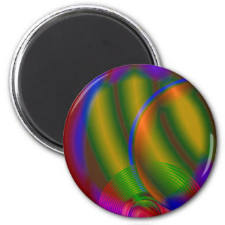 Abstract Compact Disc Refrigerator Magnet