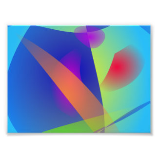 Abstract Composition Light Blue Art Photo