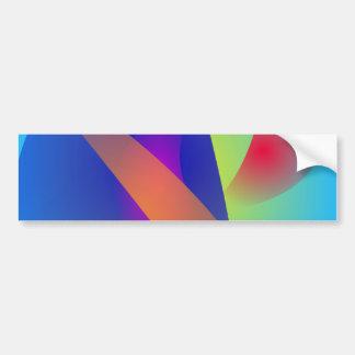 Abstract Composition Light Blue Bumper Sticker