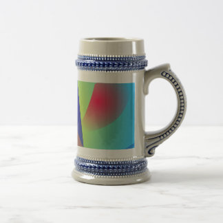 Abstract Composition Light Blue Mug
