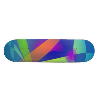 Abstract Composition Light Blue Skateboards