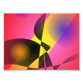 Abstract Composition Red Wind Photographic Print