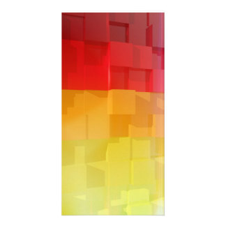 Abstract composition with colorful cubes photo cards