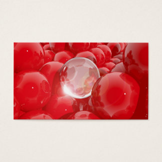 Abstract composition with spheres business card