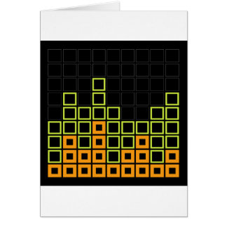Abstract composition with squares cards