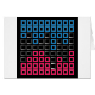 Abstract composition with squares greeting card