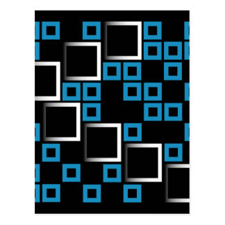 Abstract composition with squares post cards