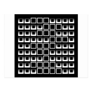 Abstract composition with squares postcard