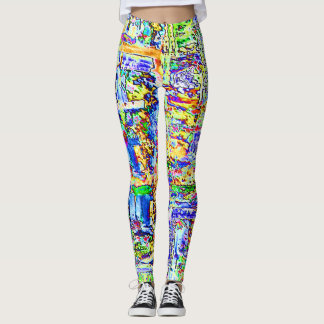 Abstract Computer Motherboard Leggings
