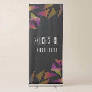 Abstract Confetti Art Exhibition Retractable Banner