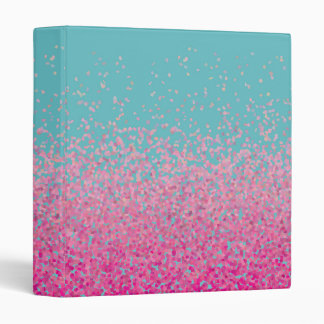 Abstract Confetti Girly Pink and Blue Binders