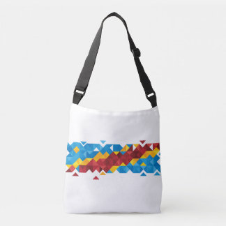 Abstract Congo Flag, Democratic Republic of Congo Crossbody Bag