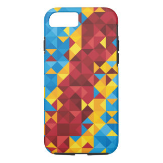 Abstract Congo Flag, Democratic Republic of Congo iPhone 8/7 Case