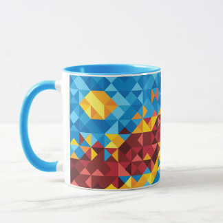 Abstract Congo Flag, Democratic Republic of Congo Mug