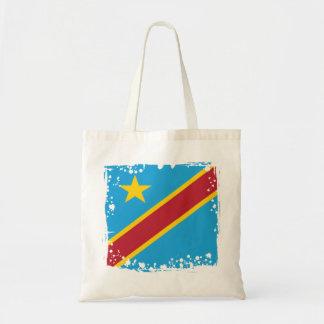 Abstract Congo Flag, Democratic Republic of Congo Tote Bag