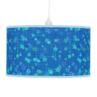 Abstract Constellation of Stars, Cobalt Blue Pendant Lamp