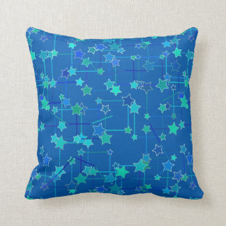 Abstract Constellation of Stars, Cobalt Blue Throw Pillow