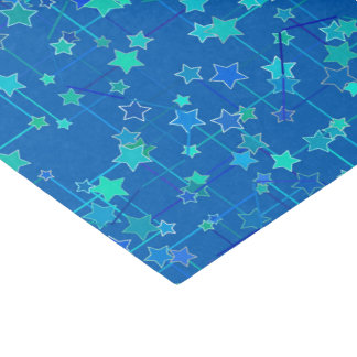 Abstract Constellation of Stars, Cobalt Blue Tissue Paper