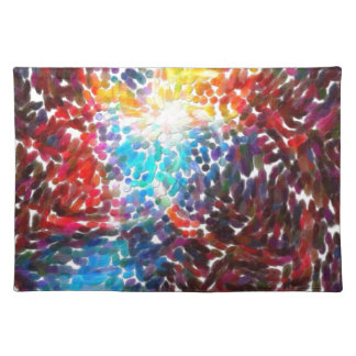 abstract contemporary colors No 18 Placemat