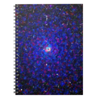 abstract contemporary colors No 21 Spiral Notebook
