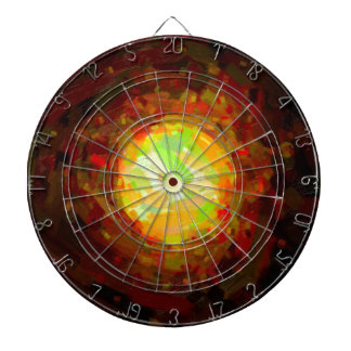 abstract contemporary colors No 24 Dartboard With Darts
