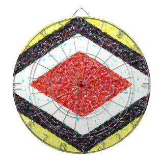 abstract contemporary colors No 31 Dartboard With Darts