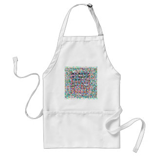 abstract contemporary colors No 35 Standard Apron