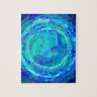 abstract contemporary colors No 37 Puzzle