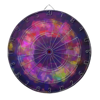 abstract contemporary colors No 40 Dartboard With Darts
