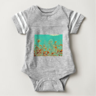 abstract contemporary colors No 50 poppies Baby Bodysuit