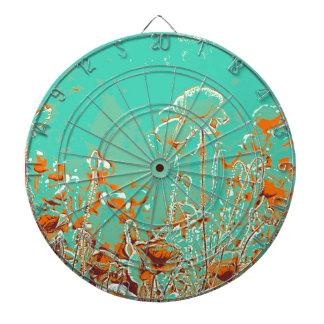 abstract contemporary colors No 50 poppies Dartboard