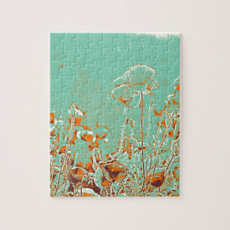 abstract contemporary colors No 50 poppies Jigsaw Puzzle