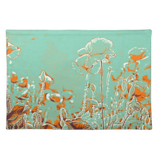 abstract contemporary colors No 50 poppies Placemat