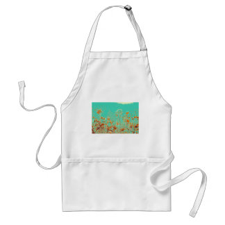 abstract contemporary colors No 50 poppies Standard Apron