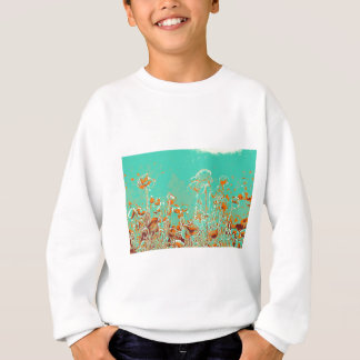 abstract contemporary colors No 50 poppies Sweatshirt