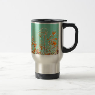 abstract contemporary colors No 50 poppies Travel Mug