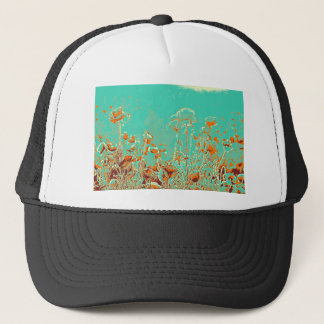 abstract contemporary colors No 50 poppies Trucker Hat
