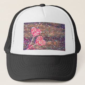 abstract contemporary colors No 51 Love Trucker Hat
