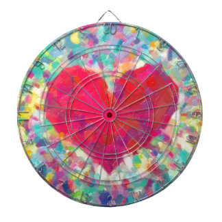 abstract contemporary colors No 54 Dartboard With Darts