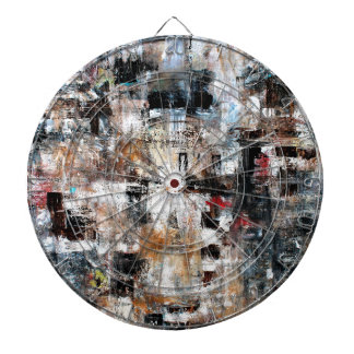 ABSTRACT CONTEMPORARY MODERN ART 3 DARTBOARDS