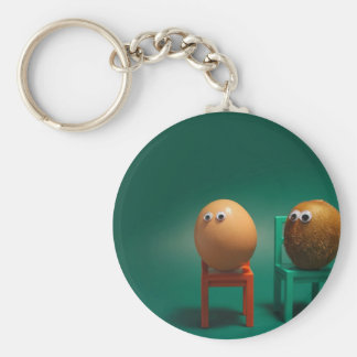 Abstract Cool Eggs And Kiwi Key Chains