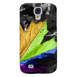 Abstract Cool Maple Leaf Colours HTC Vivid Cover