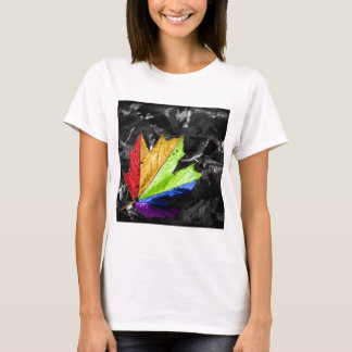 Abstract Cool Maple Leaf Colours T-Shirt