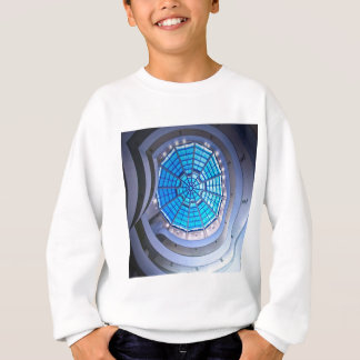 Abstract Cool Spiral Tower Blue Sweatshirt