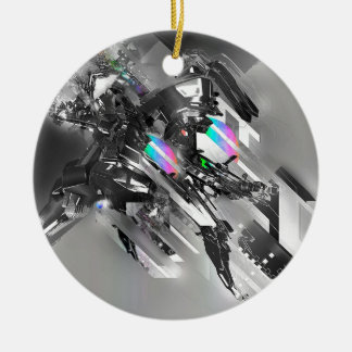 Abstract Cool Transformation Robotics Ceramic Ornament