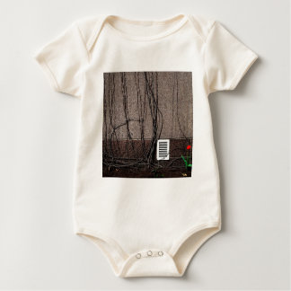 Abstract Cool Uncertain Rose Baby Bodysuit