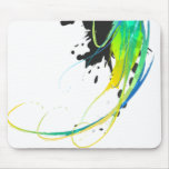Abstract cool waters Paint Splatters Mouse Pad