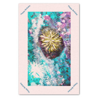 Abstract Coral Reef Sea Urchin Seaside Art Tissue Paper