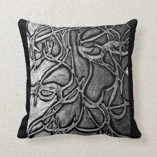 Abstract cotton throw pillow. throw pillow